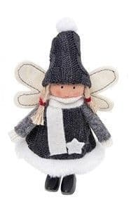 Xmas Craft Standing Angels Grey